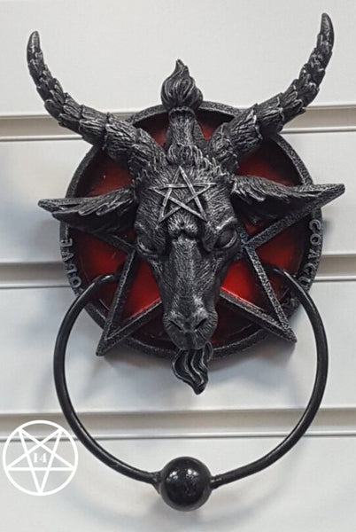 Baphomet Sabatic Goat Diety Door Knocker 20.5cm