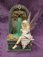 Wishing Well Fairy Waterfall Figurine design by Selena Fenech 23cm