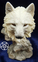 Snow Searcher Wolf Bust 12cm