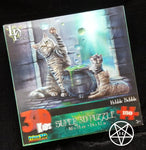 Cat and Cauldron Hubble Bubble 3D Children's Jigsaw Puzzle design by Lisa Parker