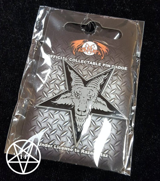 Baphomet Inverted Pentagram Pin Badge