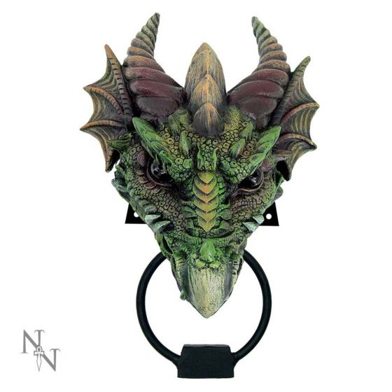 Kryst Gothic Green Dragon Door Knocker 23.1cm