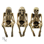 10cm Three Wise Skeletons Skull Figurine Skeleton Ornaments