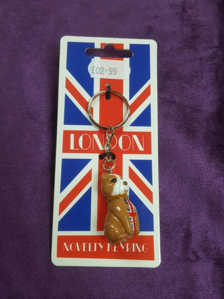 British Bulldog Union Flag Union Jack Keyring
