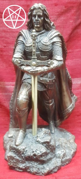 King Arthur Pendragon Sword in the Stone Letter Opener Figurine 21cm