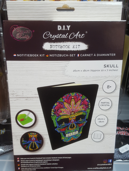 """Skull"" Crystal Art Notebook Kit, 26 x 18cm"