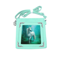 Forest Unicorn Side Bag design by Anne Stokes