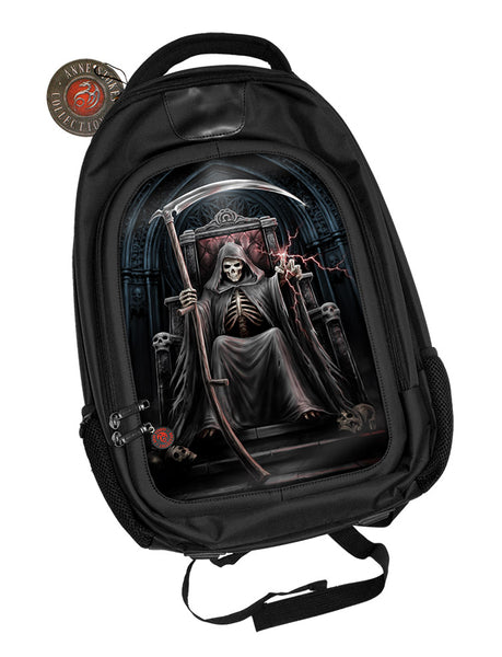 Time Waits Reaper Backpack design by Anne Stokes