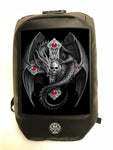 Anne Stokes Bad To The Bone 'Gothic Guardian' Dragon Cross Skull Backpack 3D Lenticular