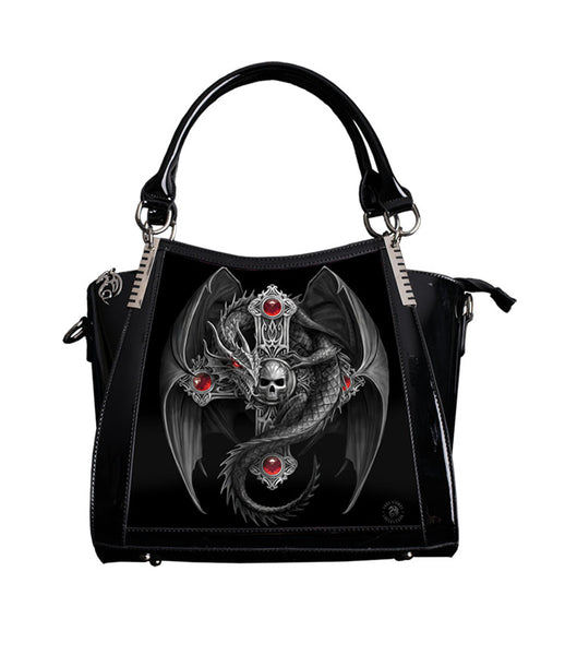 Gothic Guardian Dragon Cross Handbag design by Anne Stokes