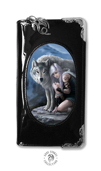 Protector Wolf 3D Lenticular Purse design by Anne Stokes