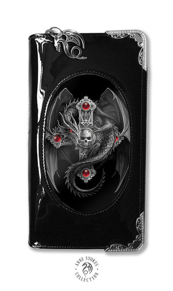 Gothic Guardian Dragon Cross Purse 3D Lenticular design by Anne Stokes