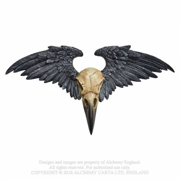 RAVENGER RAVEN WALL PLAQUE FIGURINE