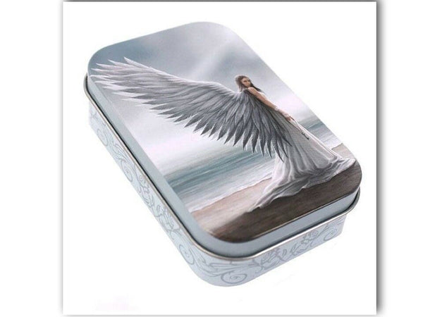 SPIRIT GUIDE ANGEL METAL TIN BOX design by Anne Stokes
