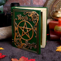 Green Book of Spells Secret Jewellery Trinket Storage Box Ornament 15.5cm