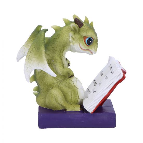 Dragon Stories Green Dragon Reading Figurine 14cm