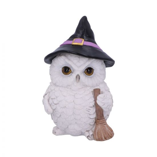 Snowy Magic Witch Owl Familiar Figurine 18cm