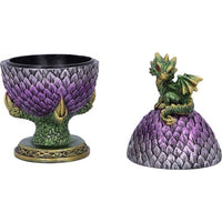 18.7cm Egg Guardian Emerald Dragon Scale Egg Box