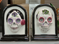 Salt and Pepper Set Pots Set Day of The Dead Figurines Cruet  7.5cm
