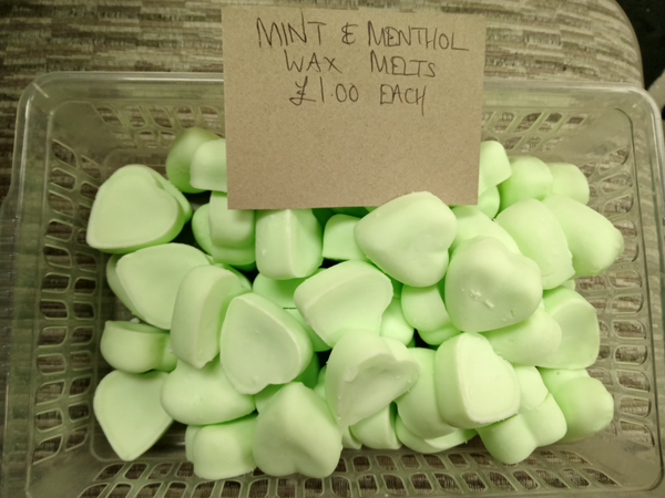Natural Soy Valentine Wax Melts -Mint & Menthol
