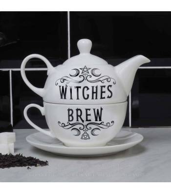 Witches Brew Hex Tea for One Tea Pot Cup Saucer