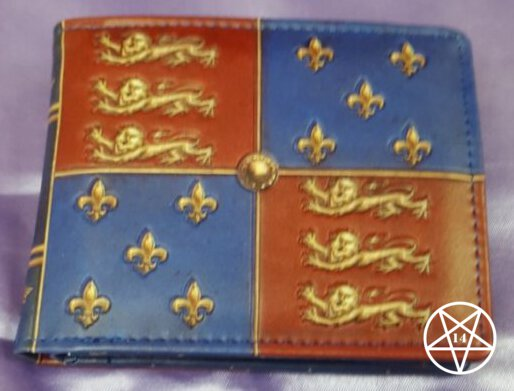 Medieval Heraldry Wallet Red Blue 11cm