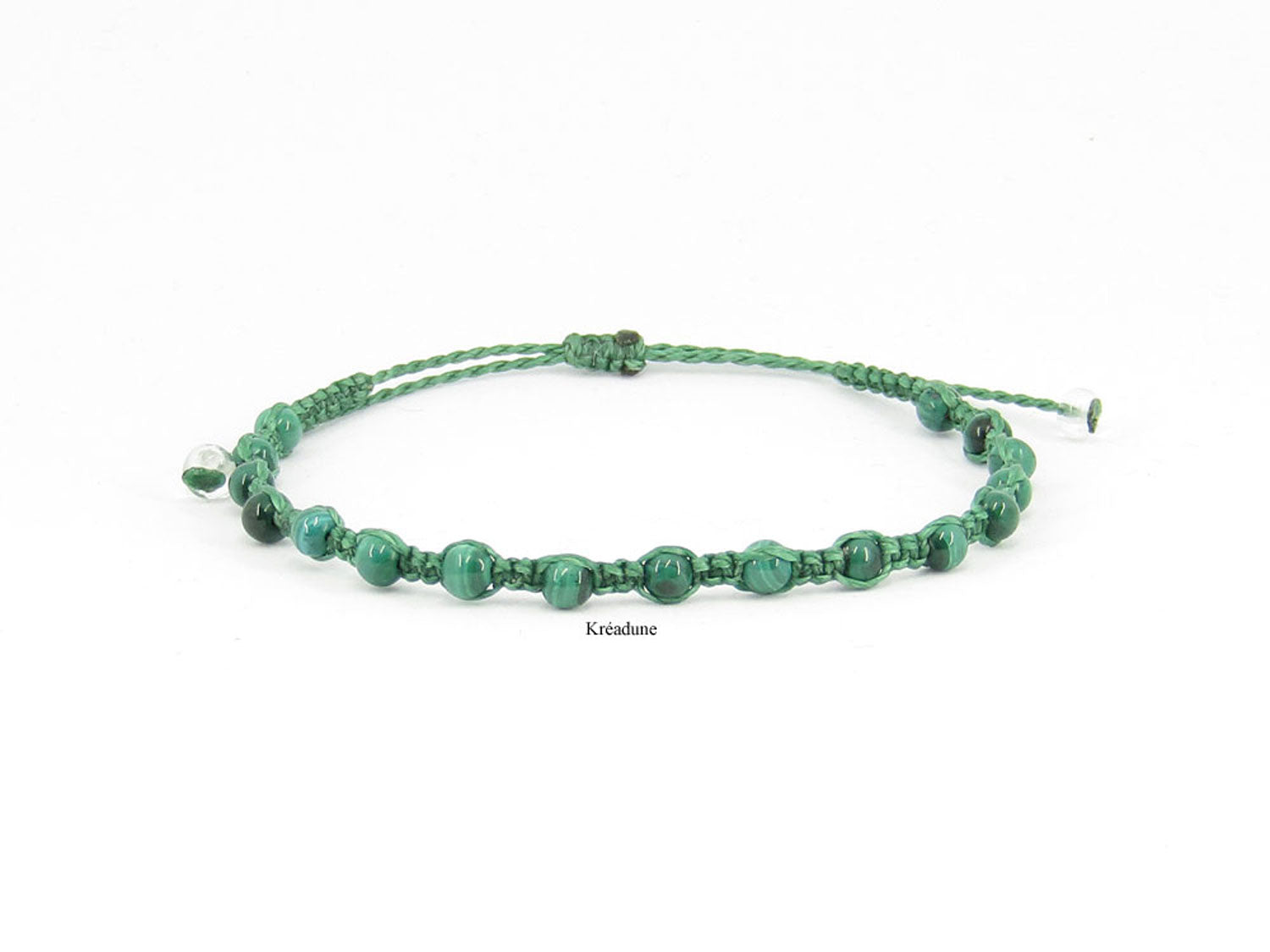 Bracelet tibétain malachite perles naturelles