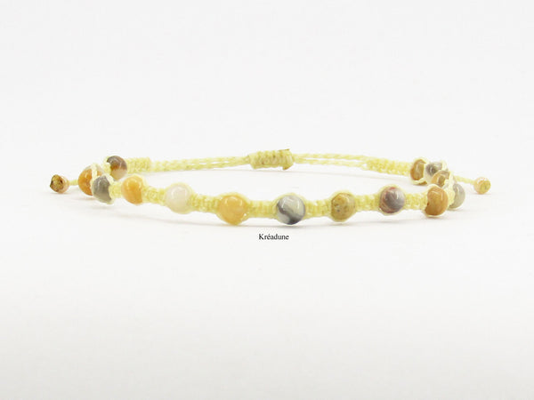 Bracelet tibetain agate crazy lace