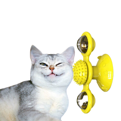 Pet Cat Windmill Turntable Toys