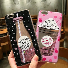 Love Heart Stars Glitter Stars Case For iPhone
