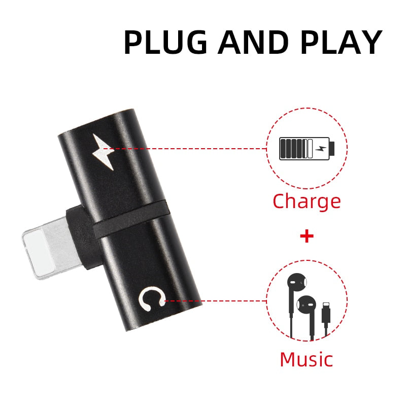 T-shaped Headphone Adapter