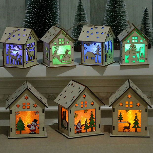 Led Light Wood House