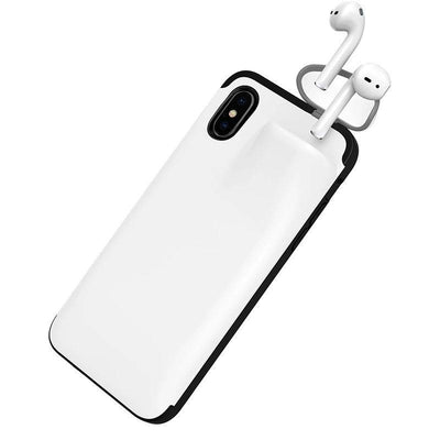 2 in 1 Phone Case for Iphone white color