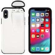 2-In-1 Iphone Airpod Case white color