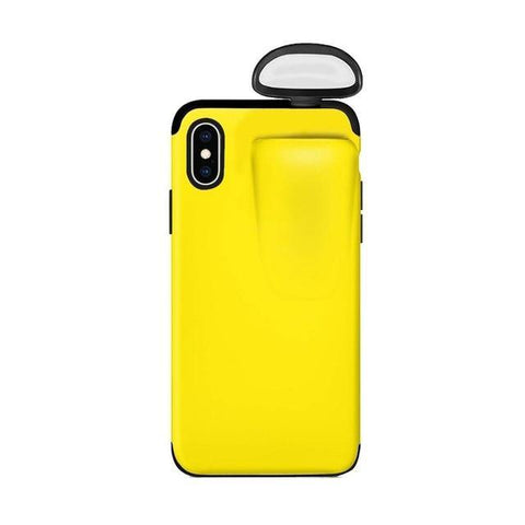 2 in 1 Phone Case for Iphone yellow color