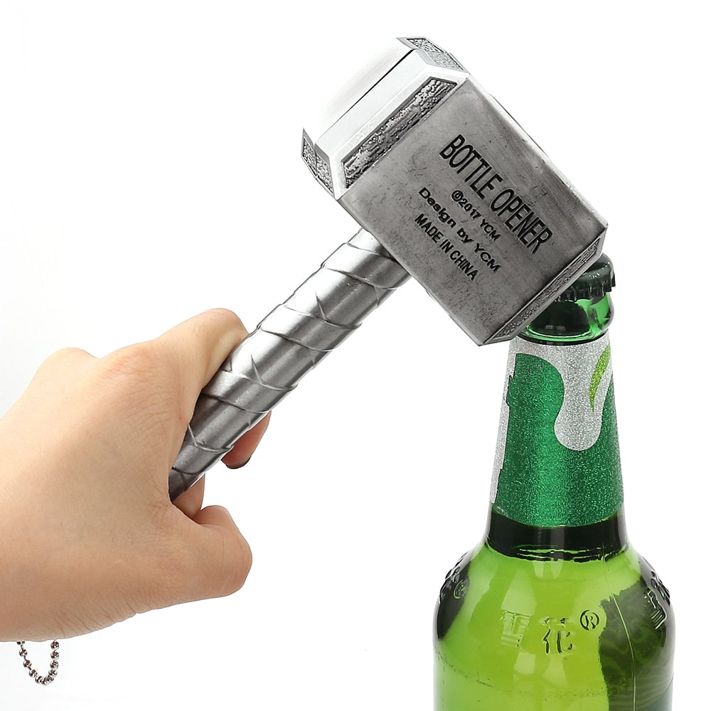 The Avengers Keychain Key Ring Thor Hammer Bottle Opener