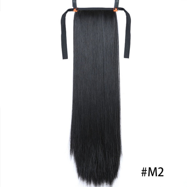 black straight hair extensions