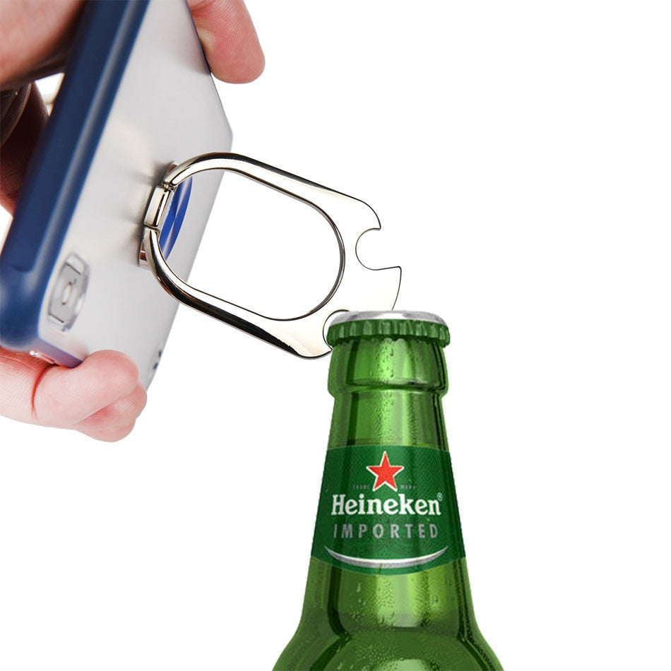 open beer bottle without opener