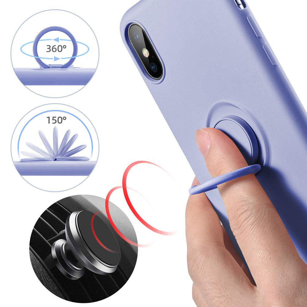 Silicone Ring Holder Shockproof Phone Cover