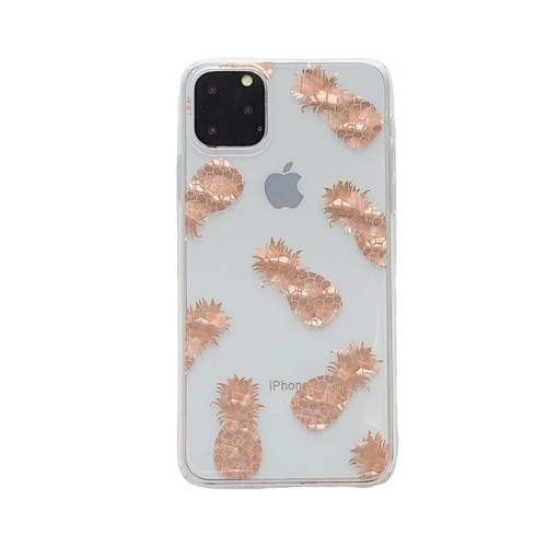 Luxury Glitter Gold Transparent Case