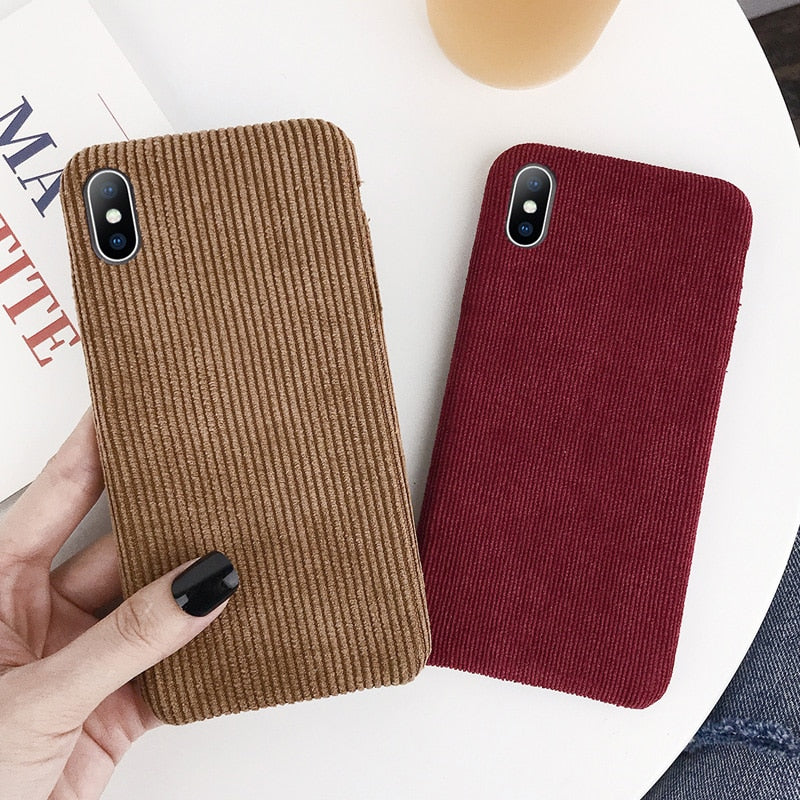 Corduroy Cloth Texture Phone Case