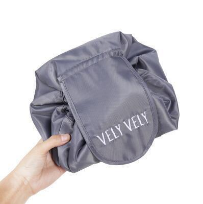 round drawstring makeup bag