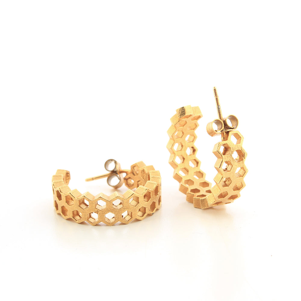 Leona fancy hoop earrings