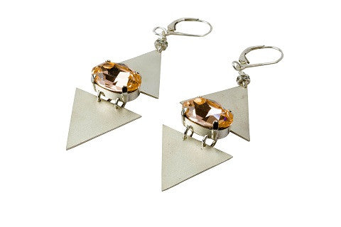 Peach Elements earrings