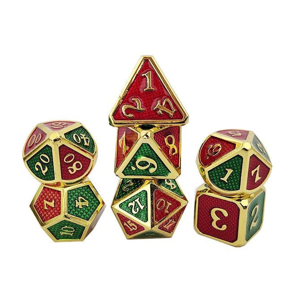 Jingle Dragon Scale Metal Dice 7pcs Set