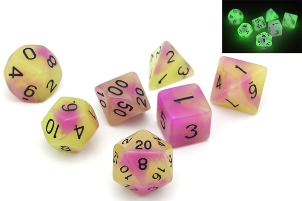 D&D Dice 7pcs Set - Glow in the Dark