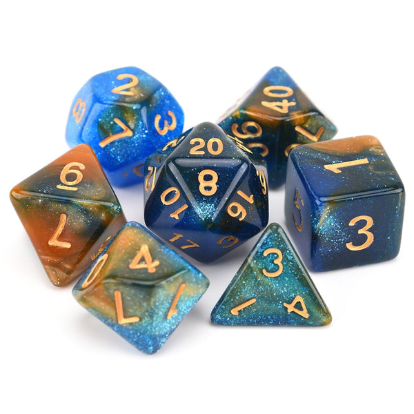 Nebula Space Dice 7pcs Set with Pouch