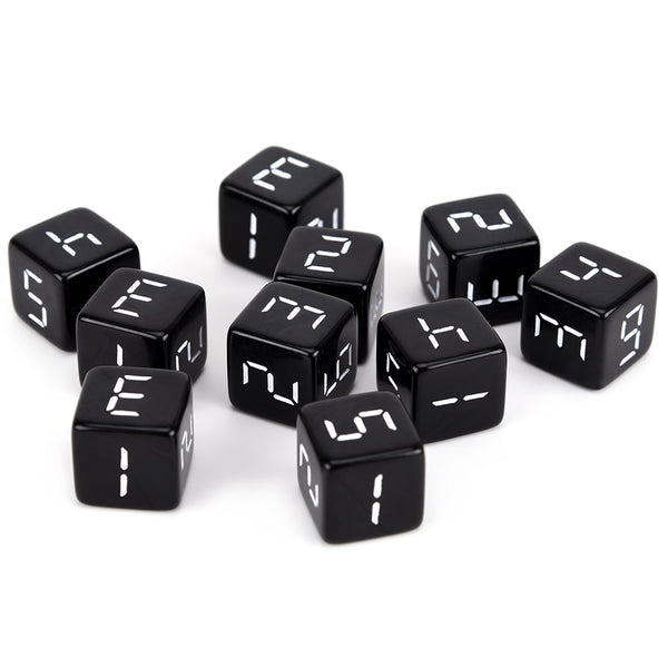 Digital D6 Dice Set (10 Pack)