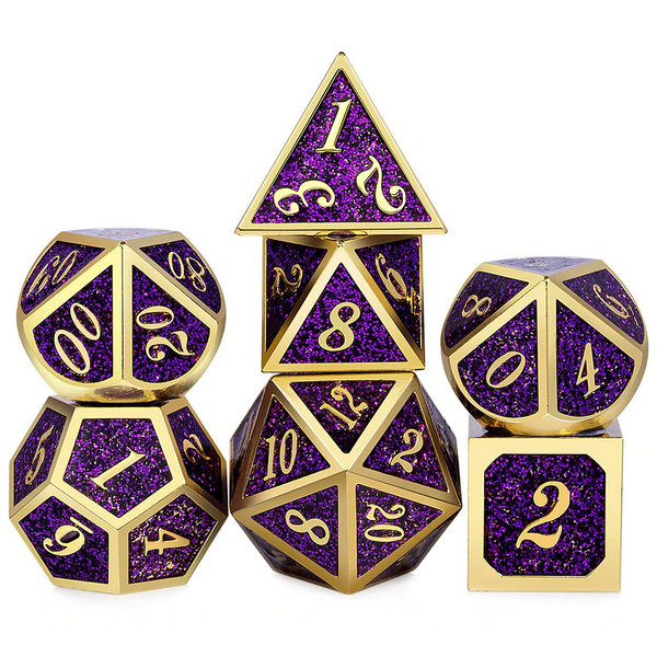 Lootius Maximus Metal Dice 7pcs Set with Pouch