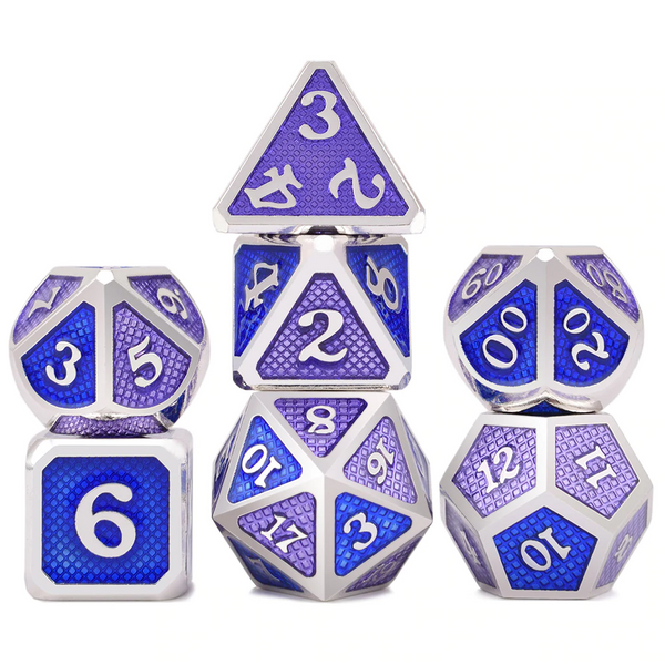 Dragon Scales Metal Dice 7pcs Set - Classes